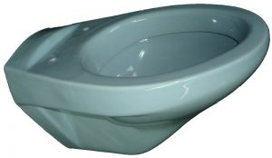 azur Wand WC Keramag Koblenz seitlich