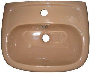 Handwaschbecken Allia 44x35,5 cm in Auslauffarbe caramel
