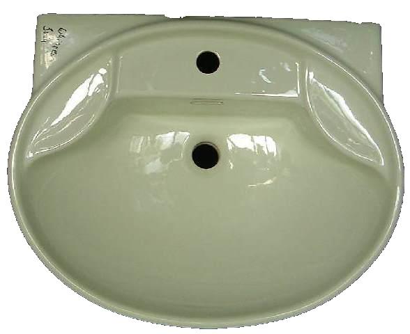 Waschbecken Ideal Standard TULIP 65cm in Altfarbe whispergrün