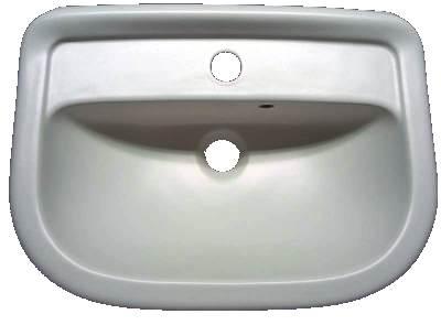 Handwaschbecken 50cm V&B Magnum 7345-50 edelweiß