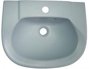 Handwaschbecken in der Auslauffarbe crocus