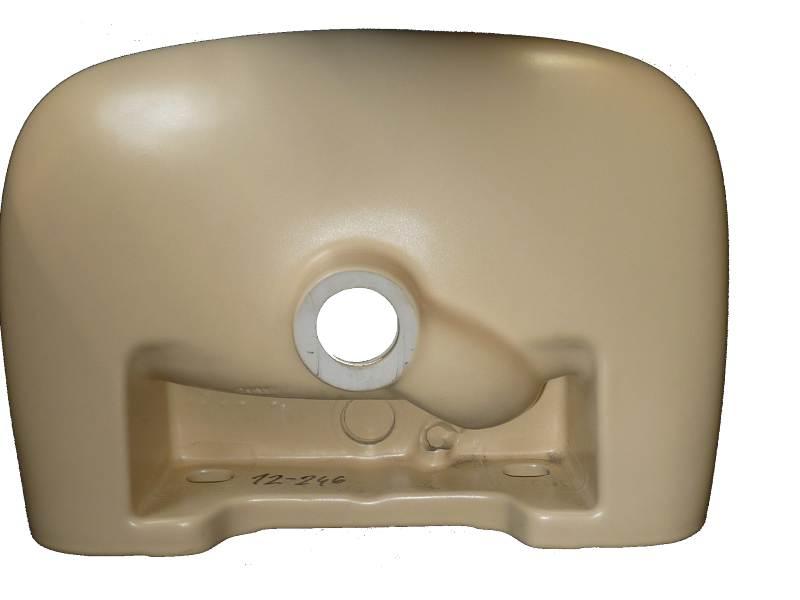 Handwaschbecken Keramag vanille von unten