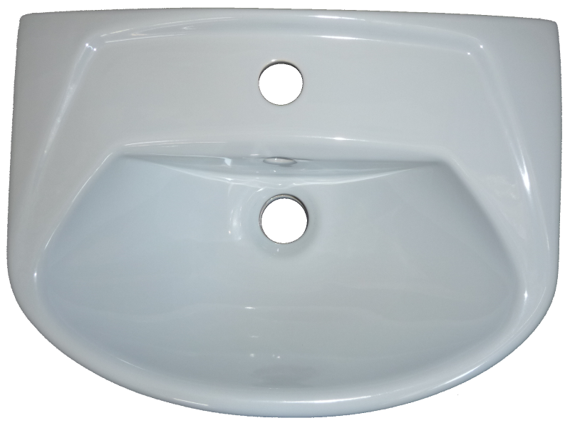 Handwaschbecken Villeroy & Boch (V&B) OMNIA CLASSIC in Altfarbe capri 45 x32 cm