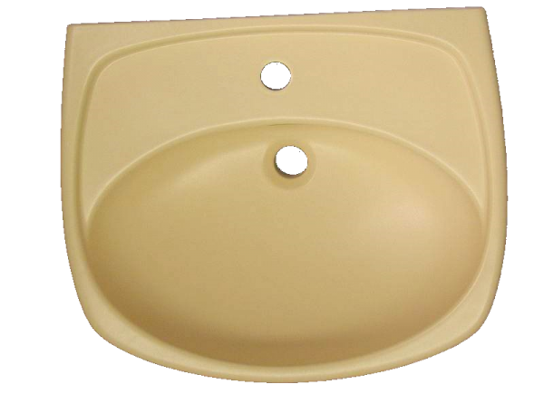 Wachbecken Keramag PRINCESS 60x50cm in Altfarbe vanille