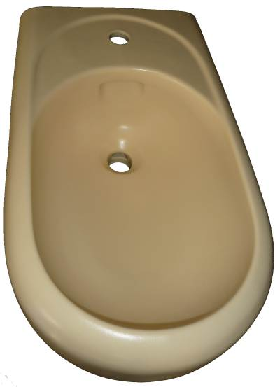 Stand-Bidet Keramag Courreges in Farbe vanilleStand-Bidet Keramag Courreges in Farbe vanille