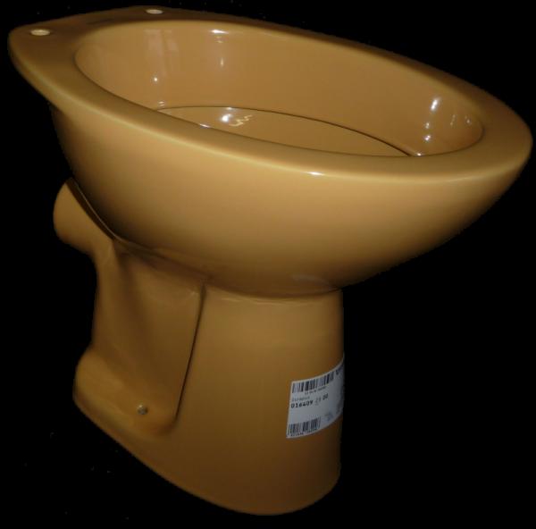 Stand-WC Cascade in Altfarbe curry Abgang Aussen waagerecht