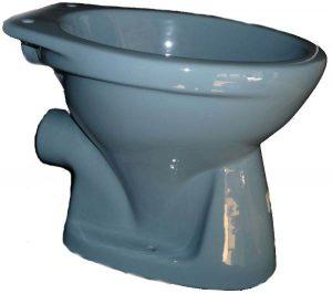 Stand WC Gustavsberg bermudablau Abgang aussen waagerecht
