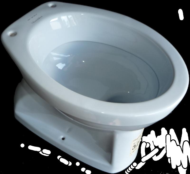 Stand-WC Villeroy und Boch Abgang innen Senkrecht Omnia Flachspül-WC in Altfarbe capri