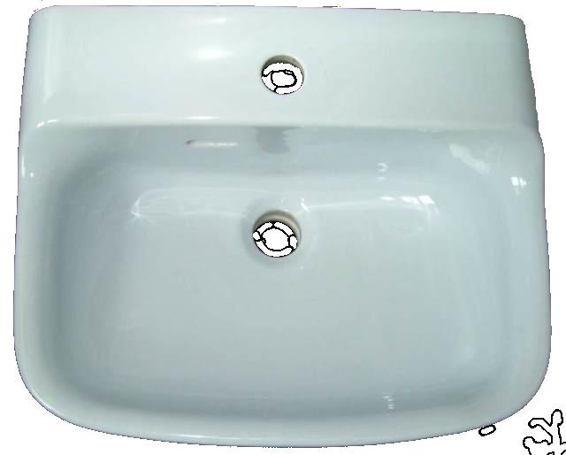 Ideal Standard TONCA Handwachbecken 45x37 cm in Altfarbe whisperblau