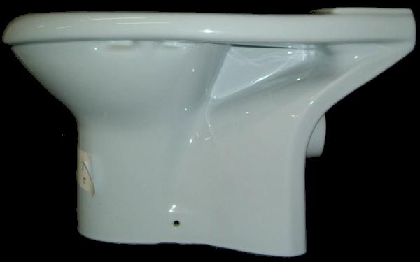Stand-WC Kombination Villeroy und Boch Vialla in Auslauffarbe capri (ohne Spülkasten) 7661