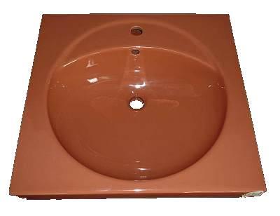 Waschbecken Keramag Preciosa 60 cm breit in Altfarbe carneol