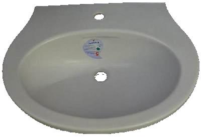Waschtisch 65cm Keramag Cleo in Farbe chinchilla