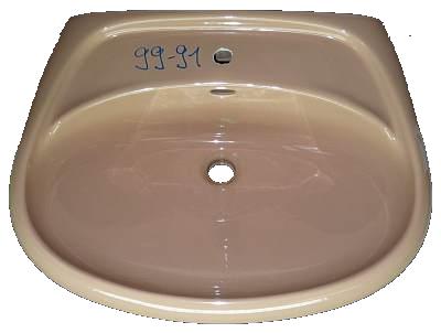 Waschbecken Keramag Roy 65x51 cm in Altfarbe caramel