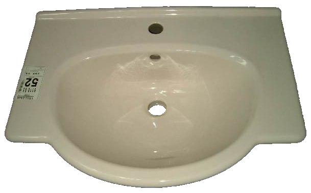 """Waschtisch V&B DIANE 6110 65 cm breite in Farbe """"natura"""" Draufsicht"""