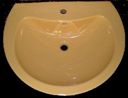 Waschtisch Modell DIO 60x49cm in der Auslauffarbe curry