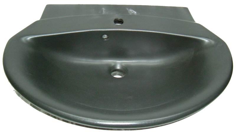 Waschtisch Villeroy & Boch Stratos 76x58,5 cm in mattschwarz / ebony