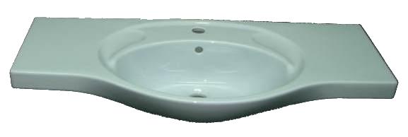 Möbelwaschtisch Villeroy & Boch (V+B) Modell GRAN GRACIA Breite: 100 cm in Auslauffarbe capri