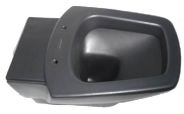 Wand-Tiefspül-WC Tiora ebony schwarz matt