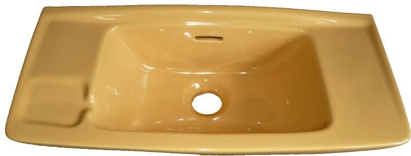 Handwaschbecken 50x22 cmin Altfarbe curry