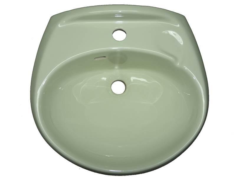 Handwaschbecken Ronsal 45 x 40 cm whispergrün