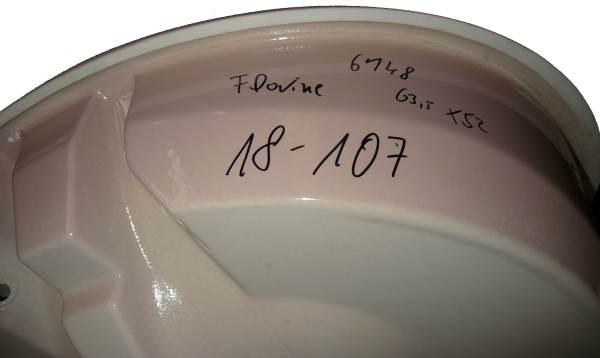sunset Einbau-Waschtisch 63x51 cm V&B Florine 6148 Bild3 Unterseite #18-107