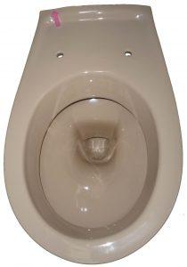 bahamabeige Wand-Tiefspül-WC Keramag Renova 204500 mit Schlagschaden oben Bild 1