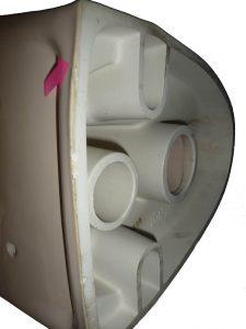 bahamabeige Wand-Tiefspül-WC Keramag Renova 204500 mit Schlagschaden oben Bild 2