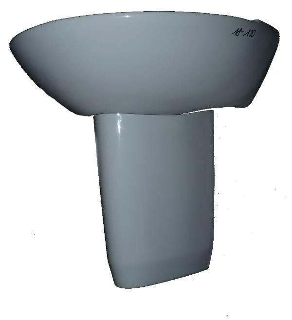 capri Handwaschbecken 50x36cm V&B Helios 732950 Bild 3 mit Halbsäule #18-130