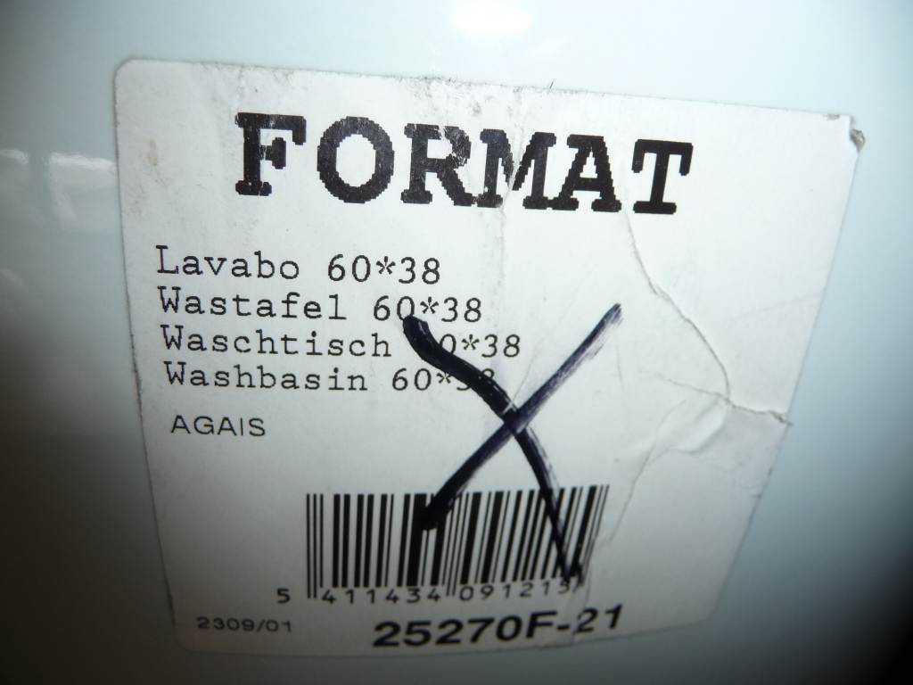 ägäis Waschbecken 60x38 cm Format 2527 Bild 2