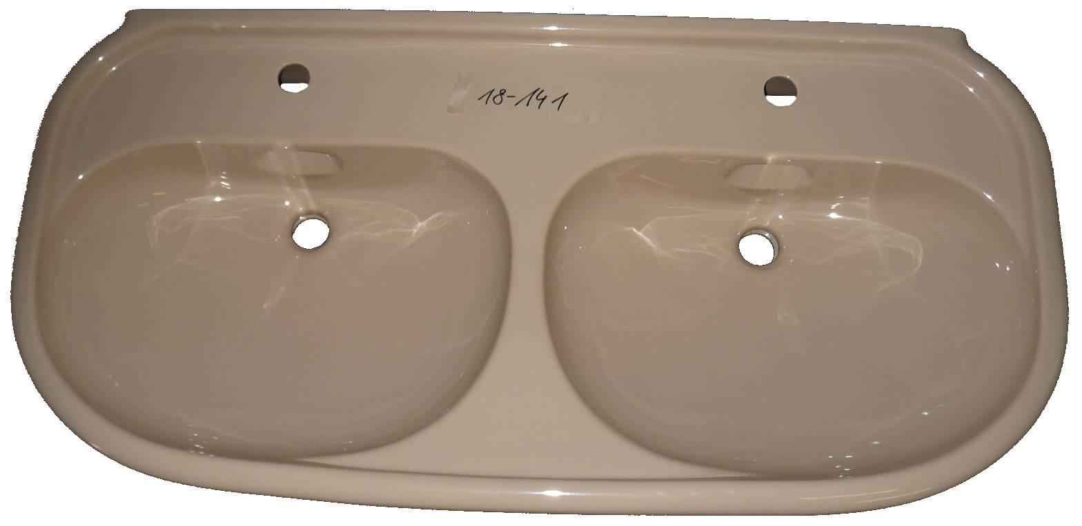 bahamabeige Doppel-Waschtisch 115x55 cm Keramag Mango 259515 Bild 1