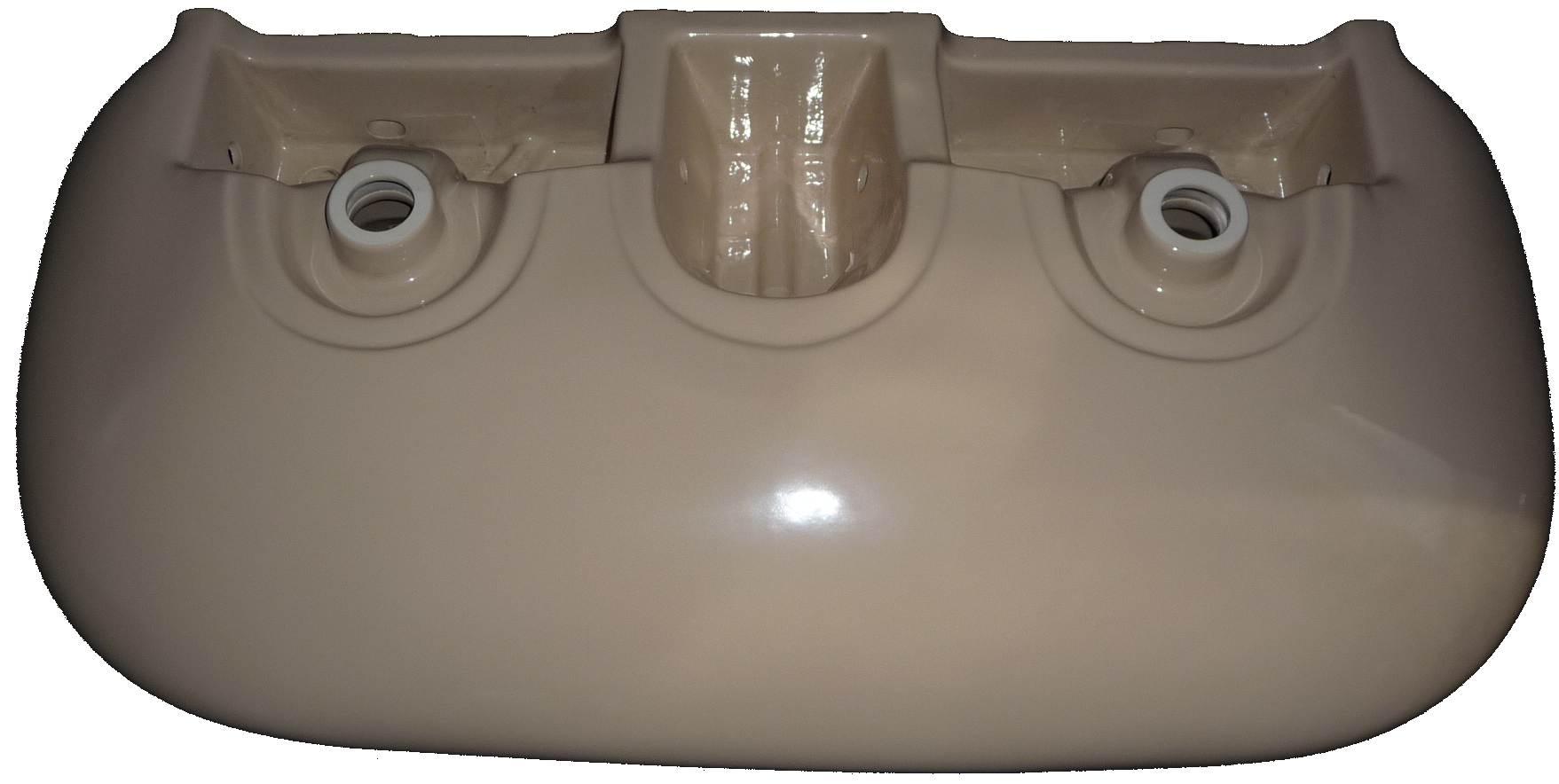 bahamabeige Doppel-Waschtisch 115x55 cm Keramag Mango 259515 Bild 2