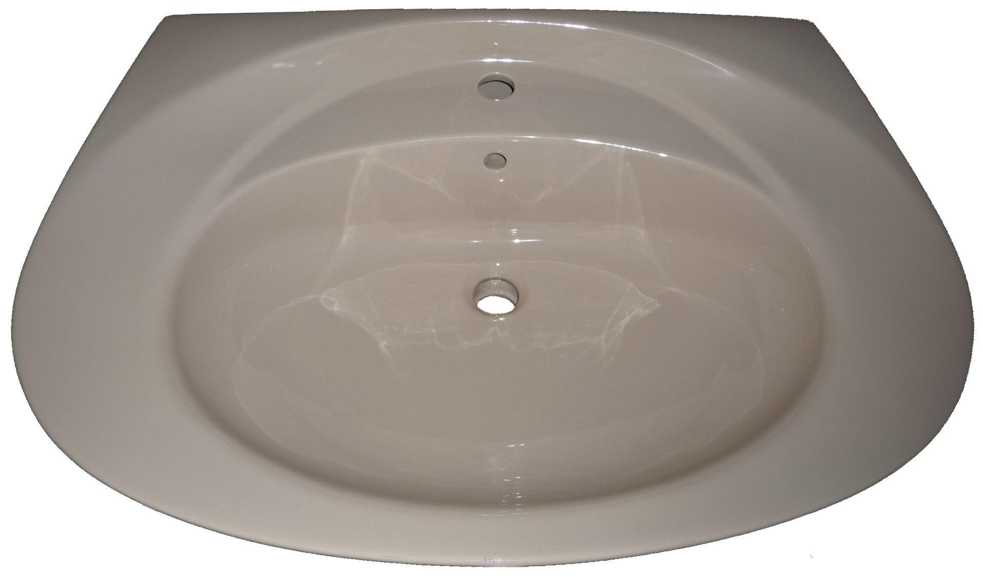 bahamabeige Waschbecken 80x54cm Warneton Bild 1