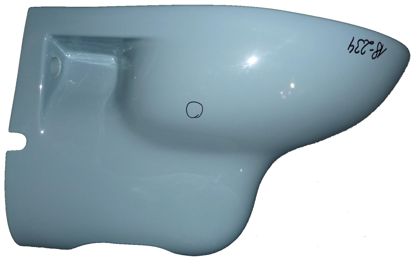 bermudablau Wand-Bidet 54x36 cm Warneton 1350 Bild 2