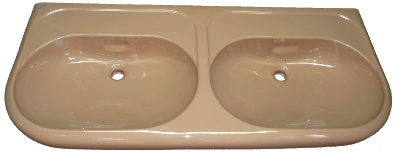 caramel Doppel-Waschtisch 132x56cm Keramag Coureges 259100 Bild 1 #18-134