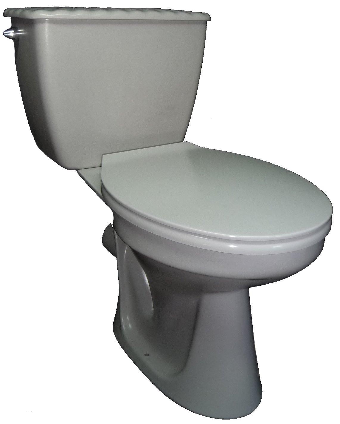 flanell Stand-WC-Kombination mit Spülkasten Bild 1