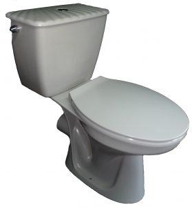 flanell Stand-WC-Kombination mit Spülkasten Bild 3
