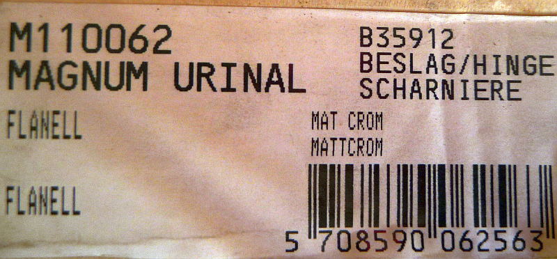 flanell Urinal-Deckel Villeroy und Boch Magnum Pressalit M11062 Bild 4
