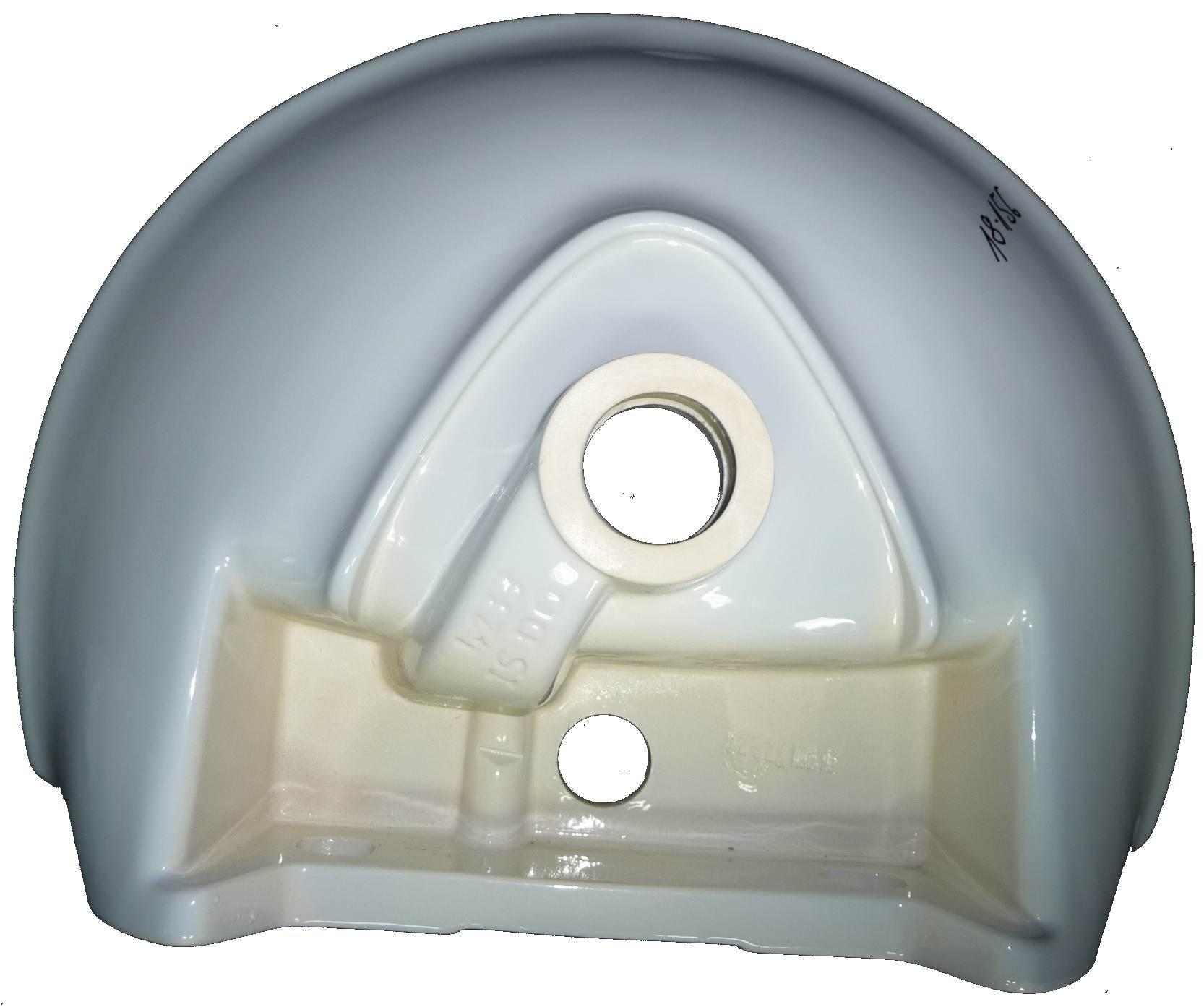 whisperblau Handwaschbecken 50x38 cm Ideal Standard Tizio 4233 Bild 2 Unterseite