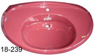 rubinrot Waschbecken Ideal Standard RONMIL 100 cm mit Mackierung der Fehlerstellen