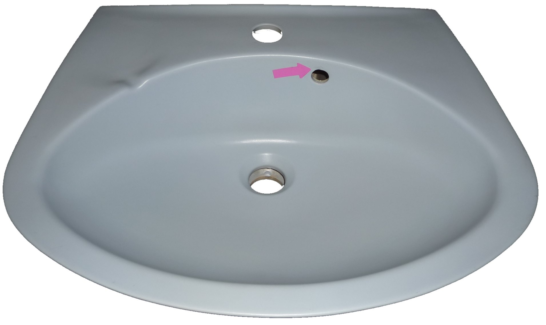 crocus Handwaschbecken 50 x 40 cm Warneton mit kleinen Fehler