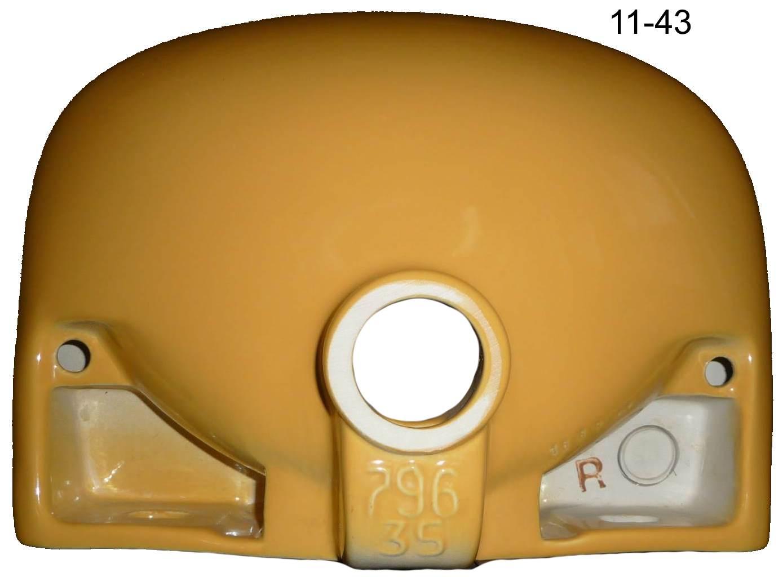 curry Hand-Waschbecken 35x26 cm Duravit #11-43 von unten