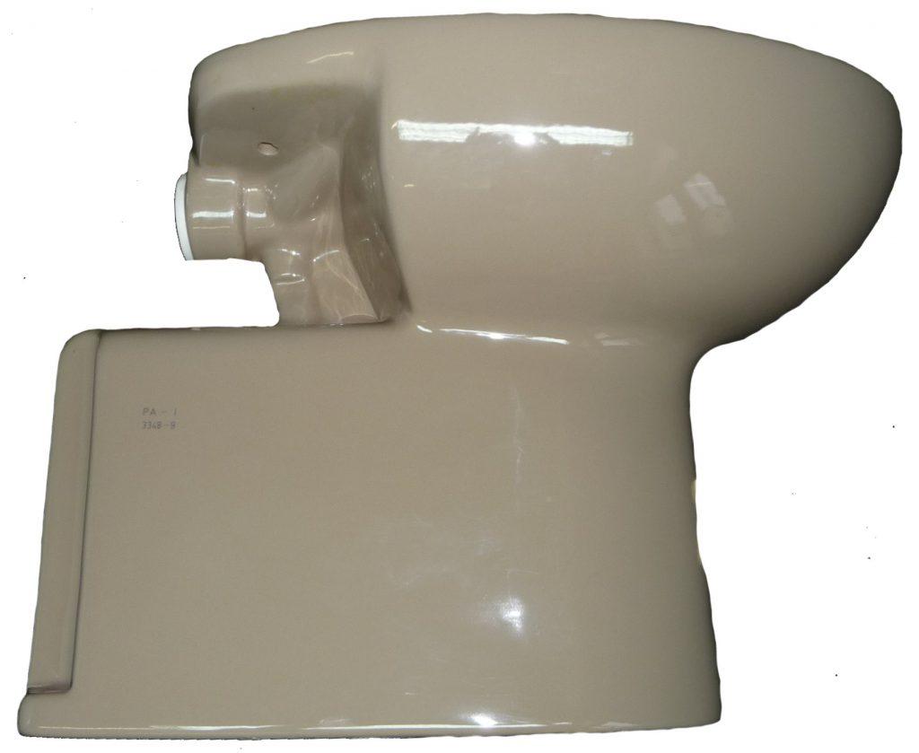 kashmirbeige Stand-WC Abgang Innensenkrecht