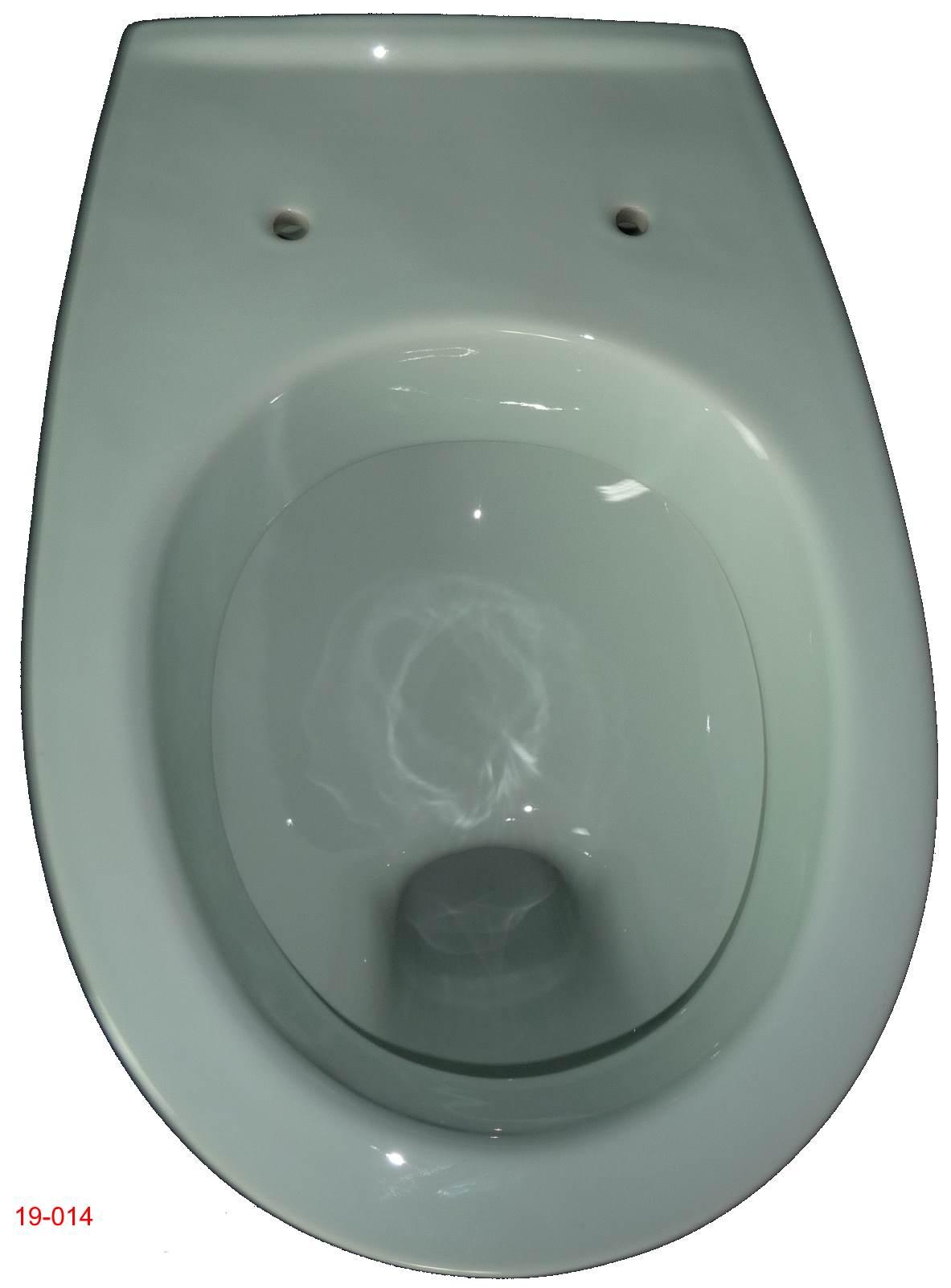ägäis Wand-Flachspül-WC Keramag FELINO Draufsicht 19-014