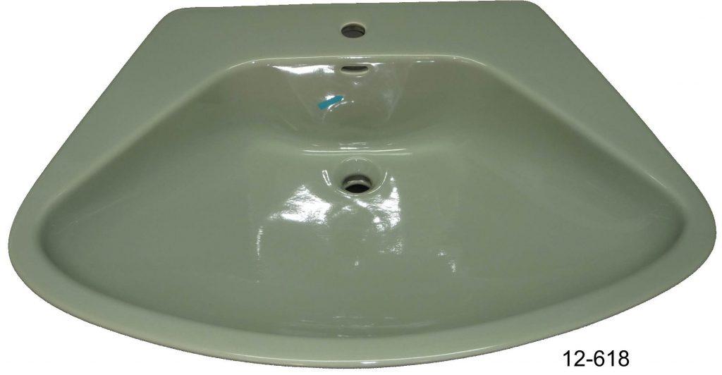 kaspischgrün Waschbecken 77x58 cm KERAMAG #12-618